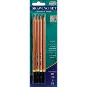 2H, HB, B & 2B - Pro Art Drawing Pencils 4/Pkg