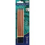 HB, 2B, 4B & 6B - Pro Art Sketching Pencils 4/Pkg