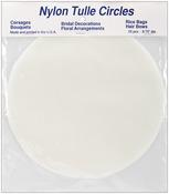"Ivory - Tulle Circles 8.75"" 25/Pkg"
