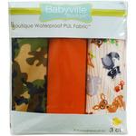 "Babyville PUL Waterproof Diaper Fabric 21""X24"" Cuts 3/Pkg - Forest Friends & Cam"