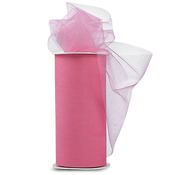 """Pink - Shiny Tulle 6""""X25yd Spool"""