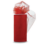 """Red - Shiny Tulle 6""""X25yd Spool"""