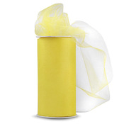 "Yellow - Shiny Tulle 6""X25yd Spool"