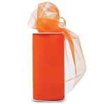 "Orange - Shiny Tulle 6""X25yd Spool"