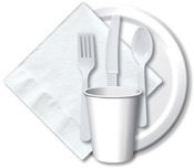 "White - Luncheon Plates 7"" 24/Pkg"