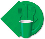 "Emerald Green - Luncheon Plates 7"" 24/Pkg"