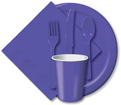 "Purple - Luncheon Plates 7"" 24/Pkg"