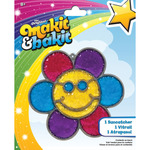 Glitter Smiley Face Flower - Makit & Bakit Suncatcher Kit