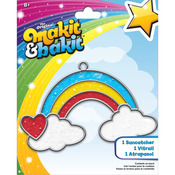 Makit & Bakit Suncatcher Kit - Rainbow With Clouds