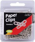 Standard-Silver 200/Pkg - Paper Clips