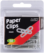 Giant- Silver 50/Pkg - Paper Clips