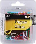 Vinyl Coated-Assorted Colors 125/Pkg - Paper Clips
