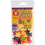 "Stick - A - Licks 200/Pkg-1"" Stars"