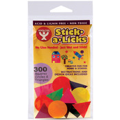 "Stick - A - Licks 300/Pkg-1"" Squares, Circles & Triangles"