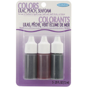 Lilac, Peach and Seafoam - Colors .75oz 3/Pkg