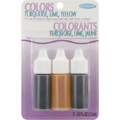 Yellow, Turquoise and Lime - Colors .75oz 3/Pkg