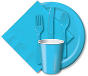 Pastel Blue - Heavy Duty Cutlery Assortment 24/Pkg
