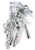 Silver & White Iridescent - Curl Swirls
