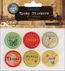 "Inspirational - Vintage Collection Epoxy Stickers 1"" 6/Pkg"