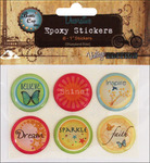 "Inspirational - Vintage Collection Epoxy Stickers 1"" 6/Pkg"
