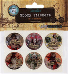 "Nostalgic 2 - Vintage Collection Epoxy Stickers 1"" 6/Pkg"