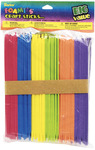 "6"" 125/Pkg - Foam Craft Sticks - Multi Color"