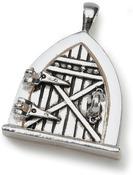 Antique Silver - Fairy Door Metal Charm 1/Pkg