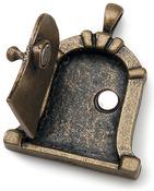 Antique Bronze Dome - Fairy Door Metal Charm 1/Pkg