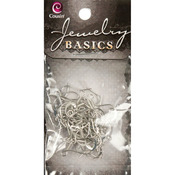 Silver Fishhook 38/Pkg - Jewelry Basics Metal Findings