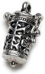 Antique Silver Time Capsule - Prayer Box Metal Charm 1/Pkg