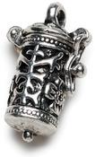 Antique Silver Time Capsule - Prayer Box Metal Charm 1/Pkg