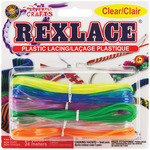 Clear - Rexlace Plastic Lacing 27yd