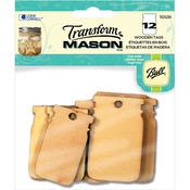 Wooden Tags - Mason Jar Shapes