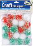 "Christmas Lights - Iridescent Pom-Poms 1"" 20/Pkg"