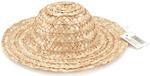 "Natural - Round Top Straw Hat 12"""