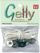 9' Wicks and 12 Anchors - Gelly Candle Wick and Anchors
