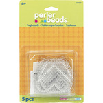 Assorted Clear - Perler Fun Fusion Pegboards 5/Pkg