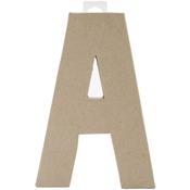 "A - Paper-Mache Letter 8""X5.5"""