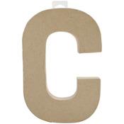"C - Paper-Mache Letter 8""X5.5"""