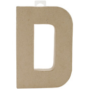 """D - Paper-Mache Letter 8""""X5.5"""""""