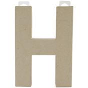"H - Paper-Mache Letter 8""X5.5"""