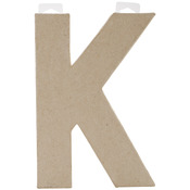 "K - Paper-Mache Letter 8""X5.5"""