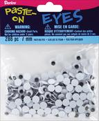 Black - Paste-On Wiggle Eyes 7mm 286/Pkg