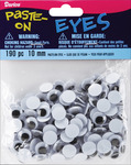 Black - Paste-On Wiggle Eyes 10mm 190/Pkg