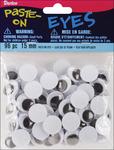 Black - Paste-On Wiggle Eyes 15mm 96/Pkg