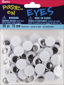 Black - Paste-On Wiggle Eyes 15mm 96/Pkg
