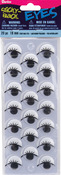 Black W/Lashes 18mm 14/Pkg - Sticky Back Eyes