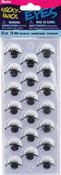 Black W/Lashes 18mm 14/Pkg - Sticky Back Eyes