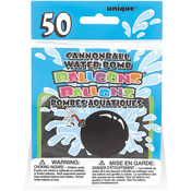 Black - Cannonball Water Bomb Balloons 50/Pkg