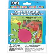Multicolor - Water Bomb Balloons W/Nozzle 200/Pkg